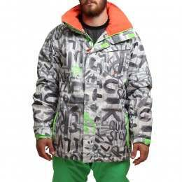 QUIKSILVER MISSION PRINT INS S/JACKET White
