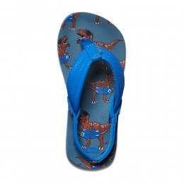 Reef Boys Ahi Sandals Blue T-Rex