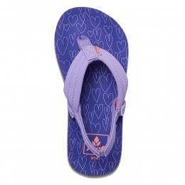 Reef Girls Little Ahi Sandals Purple Hearts