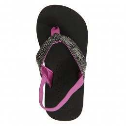 Reef Girls Little Cushion Sandals Black/Orchid