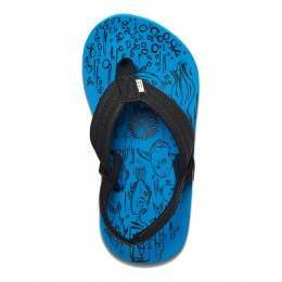 Reef Boys Grom Footprints Sandals Blue