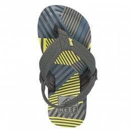 REEF BOYS AHI SANDALS Blue/Yellow Disco