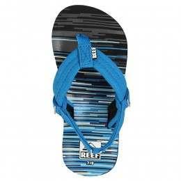 Reef Boys Ahi Sandals Blue Lines