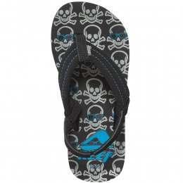 REEF BOYS AHI SANDALS Grey Skulls