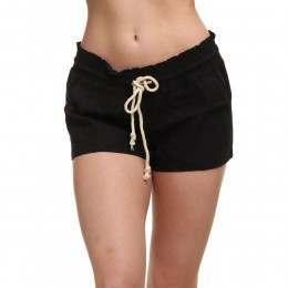 Roxy Oceanside Linen Shorts True Black