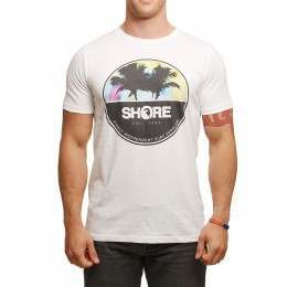 SHORE TIE DYE CIRCLE TEE White