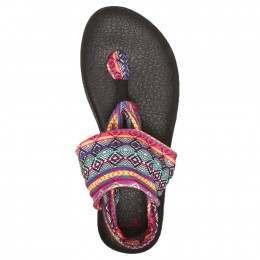 Sanuk Yoga Sling 2 Print Sandals Magenta
