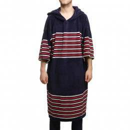Tools Surf Poncho Navy Stripes