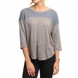 Volcom Lived In Long Sleeve Top Heather Grey