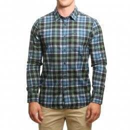 Volcom Hayden Flannel Shirt Smokey Blue