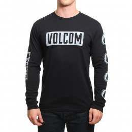 Volcom Knock Long Sleeve Top Black