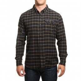 Vissla Central Coast Flannel Shirt Black