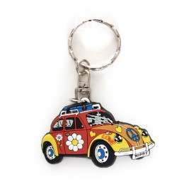 V DUB BEETLE SIDE KEYRING Retro