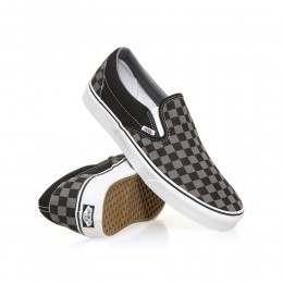 Vans Classic Slip On Shoes Black/Pewter Checker