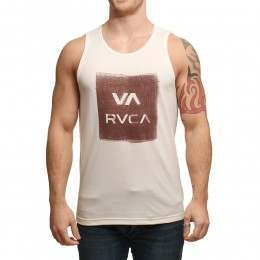 RVCA Overlap Copy Tank Almond Heather