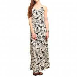 Billabong Love Trippin Palm Maxi Dress Palm White