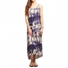 Billabong Silver Bloom Maxi Dress Blue Cruz