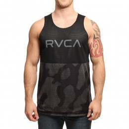 RVCA Dealer Basketball Tank Black Camo