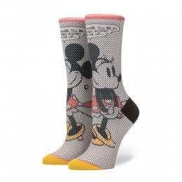 Stance X Disney Tick Tock Minnie Socks Off White