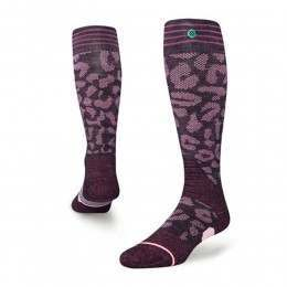 Stance Womens Queen Backcountry Snow Socks Wine