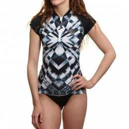 Ripcurl All Over Cap Sleeve Rashvest Titanium