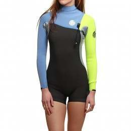 Ripcurl G Bomb Long Sleeve ZF 2MM Shorty Wetsuit