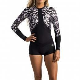 Ripcurl Madi Long Sleeve Boyleg Suit Black/Whit 17