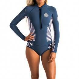 Ripcurl G Bomb Long Sleeve Shorty Wetsuit Navy