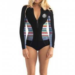 Ripcurl G Bomb Long Sleeve Shorty Wetsuit Stripe