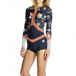Ripcurl Madi Long Sleeve Shorty Wetsuit Navy