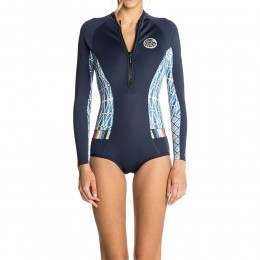 Ripcurl G Bomb Long Sleeve Shorty Wetsuit Blue