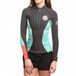 Ripcurl G Bomb Long Sleeve Wetsuit Top Grey
