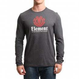 Element Vertical Long Sleeve Top Charcoal Heather