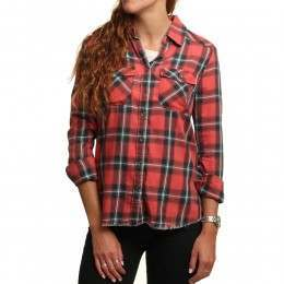 Billabong Flannel Frenzy Shirt Rad Red