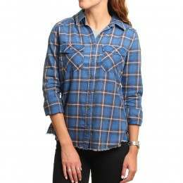 Billabong Flannel Frenzy Shirt Saphire Blue
