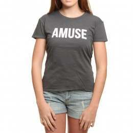 Amuse Society Iconic Tee Charcoal