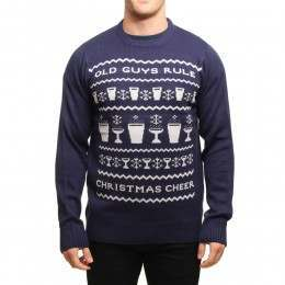 Old Guys Rule X-Mas Jumper Navy Blue