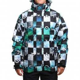 Quiksilver Mission Printed Snow Jacket Bluefish