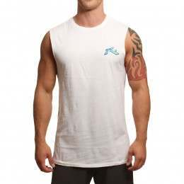Rusty Limitless Muscle Tank White