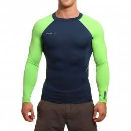ONeill Skins Stitchless Long Sleeve Rash Vest Navy