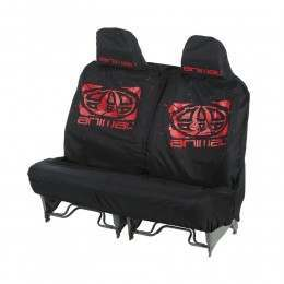 ANIMAL DOUBLE CAR SEAT COVER Black