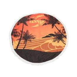 Sola Round Beach Towel Orange