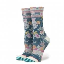 Stance Ladies Hermosa Crew Socks Blue