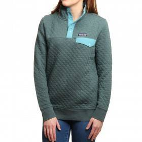Patagonia Cotton Quilt Snap-T Pullover Green