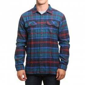 Patagonia Fjord Flannel Shirt Big Sur Blue