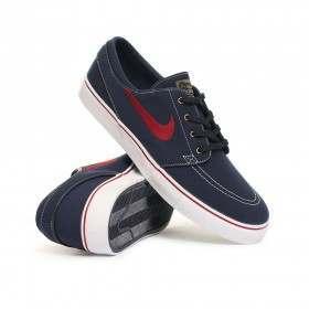 Nike SB Zoom Janoski Shoes Obsidian/Tm Red