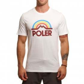 Poler Mountain Rainbow Tee White