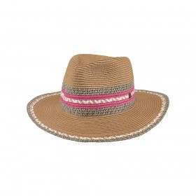 Barts Baxt Straw Hat Fuchsia
