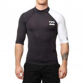 Billabong Contrast Short Sleeve Rash Vest Black