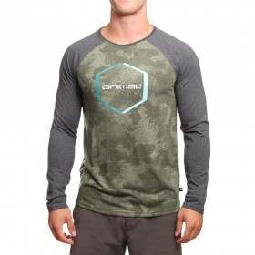 Animal Hex Long Sleeve Top Camo Green